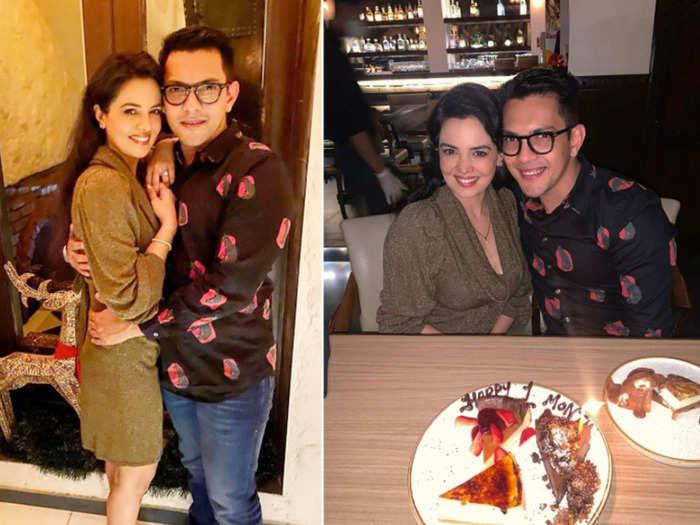aditya narayan 1 month wedding anniversary with wife shweta agarwal goes on dinner date