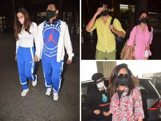 saif ali khan kareena kapoor to kiara advani sidharth malhotra and gauahar khan bollywood couples spotted in stylish looks