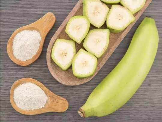 how to make raw banana powder for babies in hindi