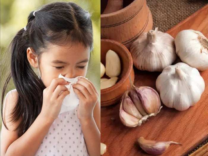 how garlic prevent kids from cough and cold in hindi