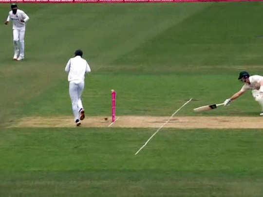 aus vs ind 3rd test steve smith run out on ravindra jadeja throw in sydney video viral