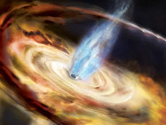 supermassive supposedly a recoiling black hole missing in distant galaxy abell 2261 leaves scientists baffled
