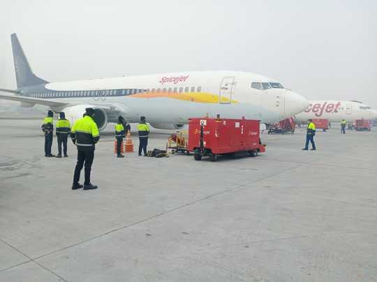 the first consignment of covid19 vaccine covishield arrives at delhi from pune