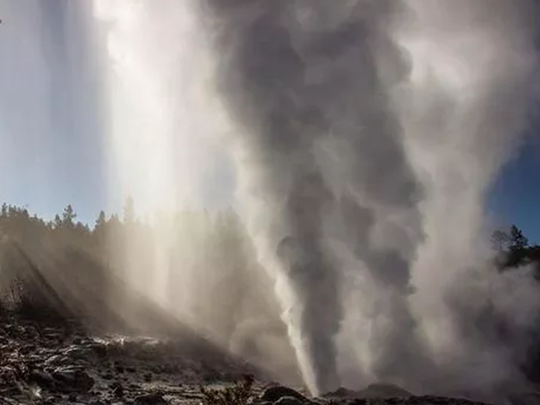 usgs reveals yellowstone volcano steamboat geyser erupting at record pace