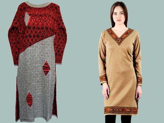 Woolen Kurta On Amazon : सज गया सर्दियों का खास बाजार, डिस्काउंट पर मिल रहा ये डिमांडिंग Woolen Kurta