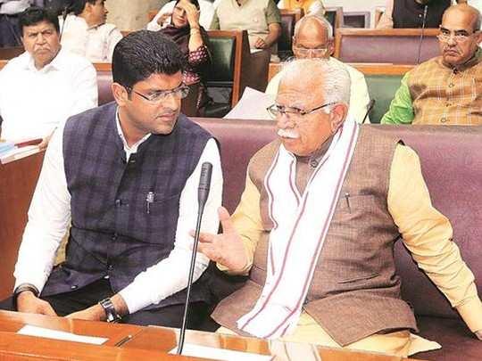 Manohar Lal khattar Dushyant Chautala