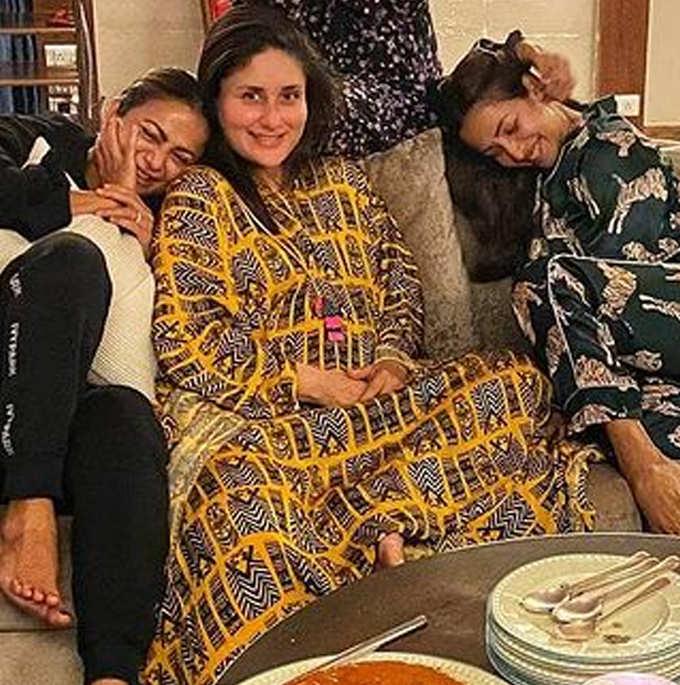मां बनने से पहले करीना ने की दोस्तों के साथ पार्टी