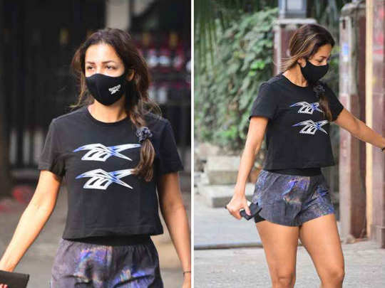 malaika arora latest photos in trendy look as she spotted outside gym