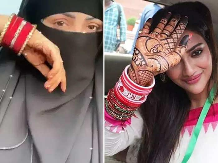 sana khan laal chooda video viral nusrat jahan was also trolled for wearing this