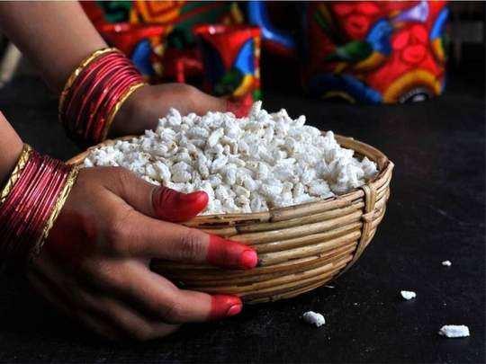 health benefits of eating lahya or kheel lai on makar sankrant and lohri in marathi