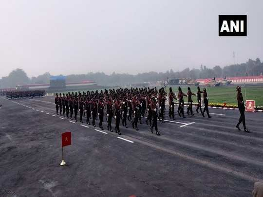 jawans perform full dress rehearsal ahead of army day parade visuals from cariappa parade ground new delhi