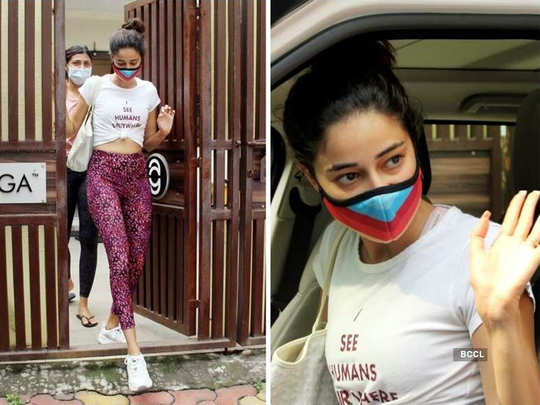ananya panday casual look who clicked outside yoga class latest photos viral