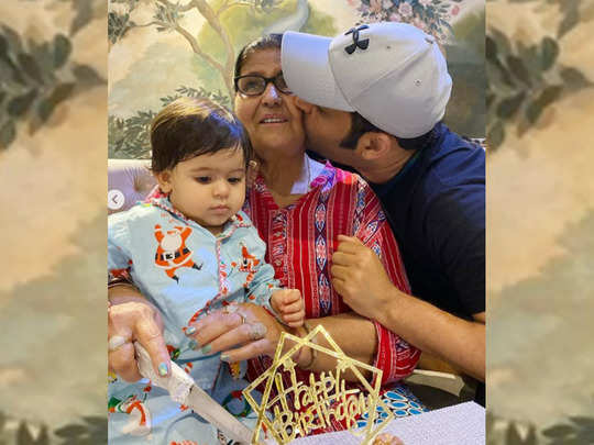 kapil mom birthday
