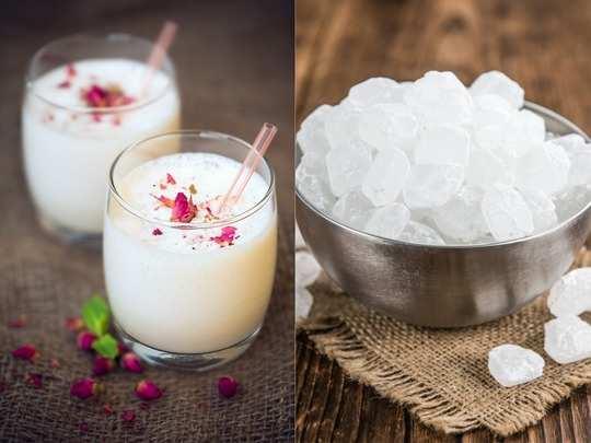 health benefits of drinking milk and mishri or khadi shakkar in hindi