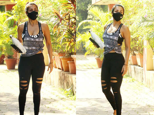 malaika arora was spotted outside gym she gets clicked
