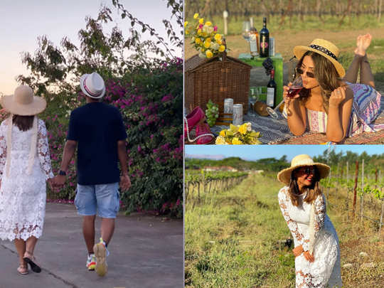 hina khan at sula vineyards with her boyfriend rocky jaiswal she shared her pictures on instagram