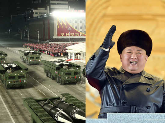 world most powerful weapon intercontinental ballistic missile solid fueled displayed by kim jong un in north korean military parade