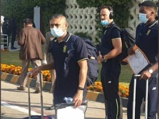 south africa tour of pakistan 2021 south africa arrive in pakistan for historic test and t20i series