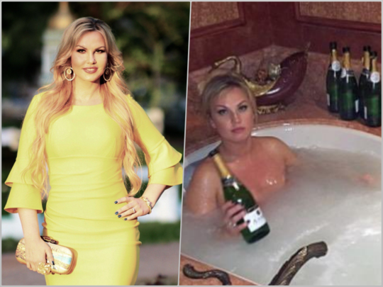 Expensive Champagne Bath