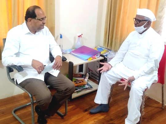 Vikhe Patil-Anna Hazare
