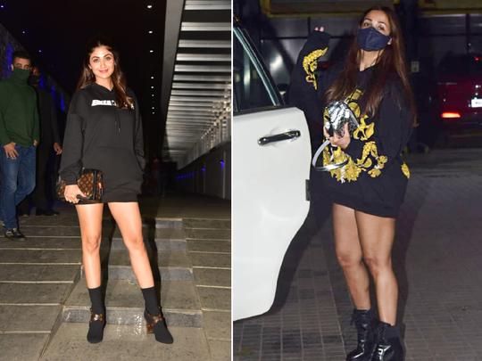 fashion faceoff shilpa shetty malaika arora who wore sweatshirt with boots better