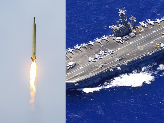 iran missile land near uss nimitz in indian ocean during great prophet 15 drill