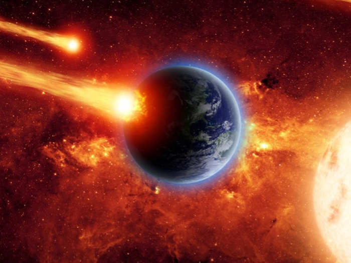 mass extinction events are related to and happen in a cycle with asteroid and comet impact