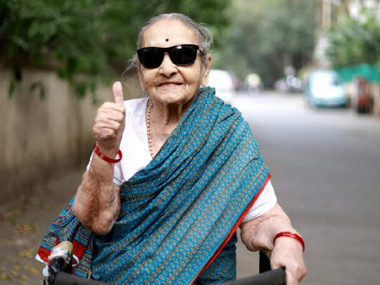 100 year old dadi is an example of how life should be lived happily and with love