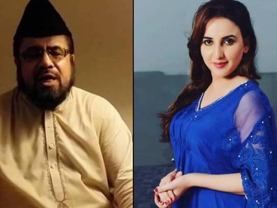 pakistan tiktok star hareem shah slaps mufti qavi over vulgar conversation video viral