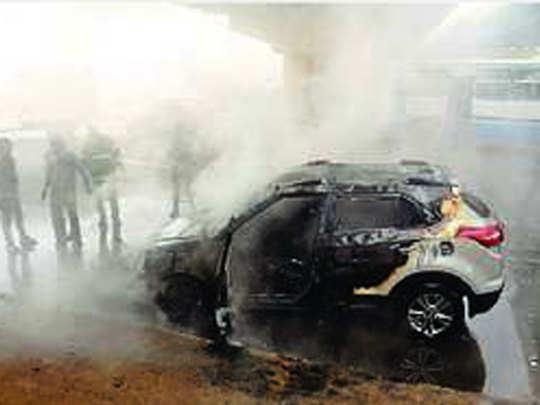 Fire-in-Car