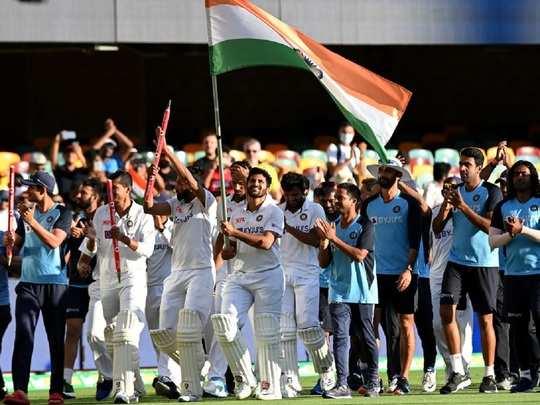 Team India after winning gabba test 2021