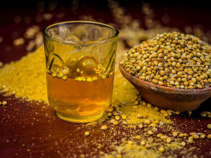 health benefits of drinking coriander seeds or dhania water in marathi