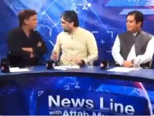 fighting video tv debate