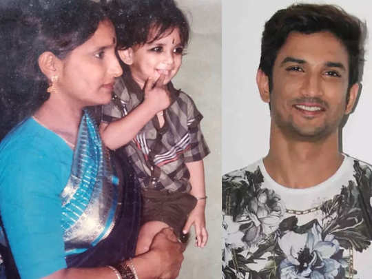 Sushant singh rajput in his moms arm