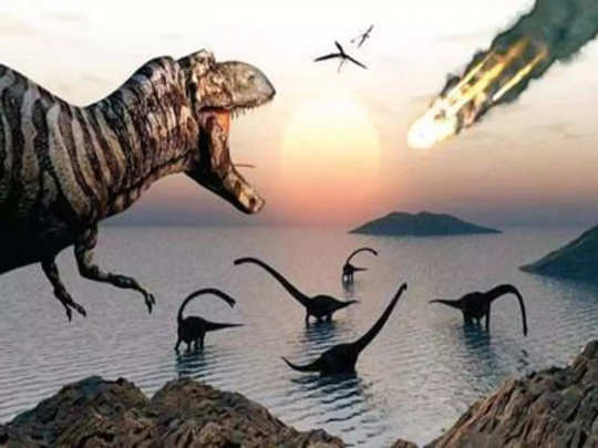 book claims traces of dinosaur reached moon with the doomsday asteroid before human