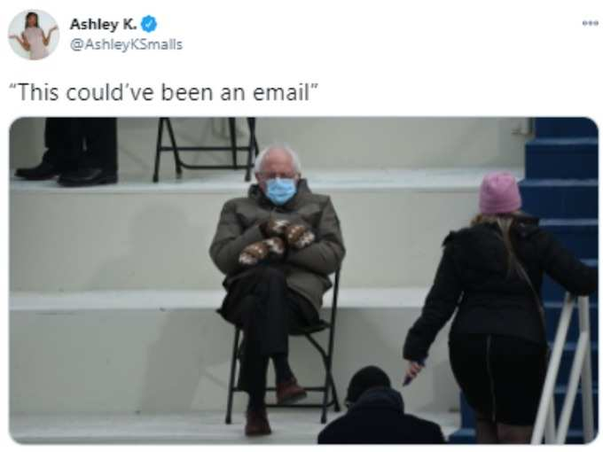 India Republic Day 2021 Memes Jokes Viral On Bernie Sanders Sitting On A Chair In Inauguration Day Navbharat Times Photogallery