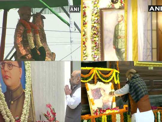 pm mod and many more leaders paying tribute to netaji subhas chandra bose on his 125th birthday