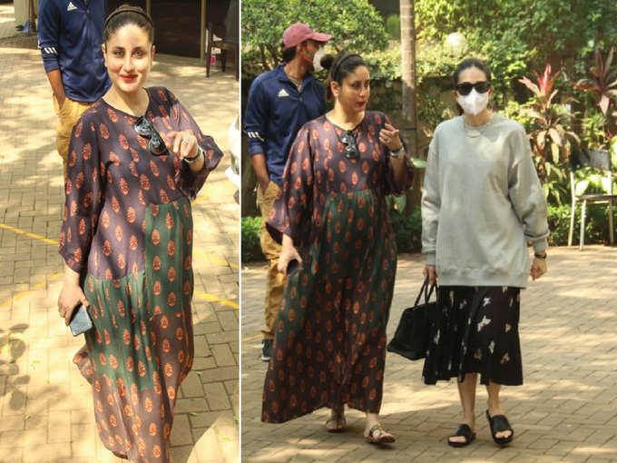 खिली-खिली करीना कपूर बहन करिश्मा के साथ आईं नजर, रिपीट की पुरानी ड्रेस