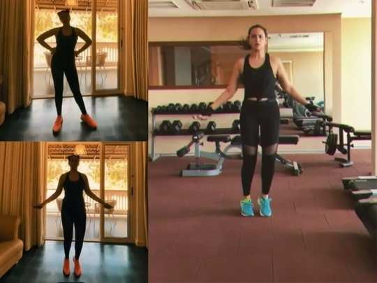 bollywood actress sonakshi sinha fitness secret know health benefits of skipping rope in marathi