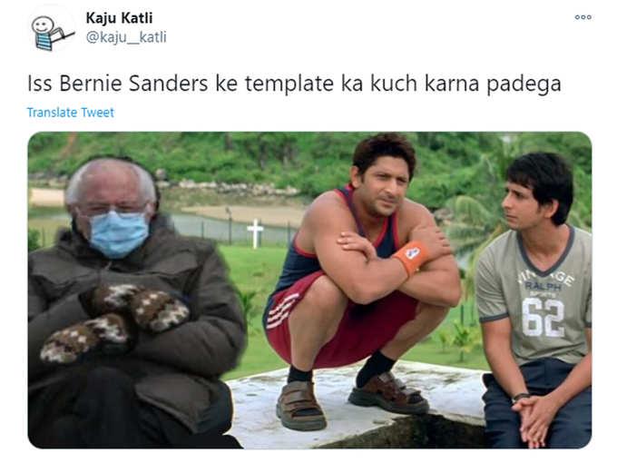 Bernie Sanders Viral Photo Bollywood Memes Bernie Sanders Viral Picture Turns Out In Funny Bollywood Memes On Internet Navbharat Times Photogallery