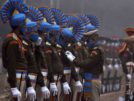 full dress rehearsal for the republic day parade in chandigarh