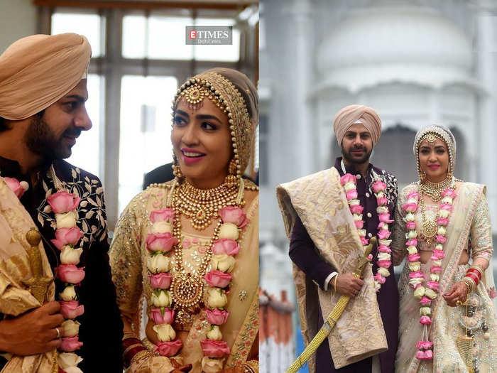 pavitra rishta fame karan veer mehra ties knot with girlfriend at a delhi gurudwara watch wedding inside pics