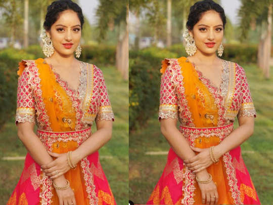 deepika singh goyal aur tv ki sandhya got ready as desi girl in her brother wedding