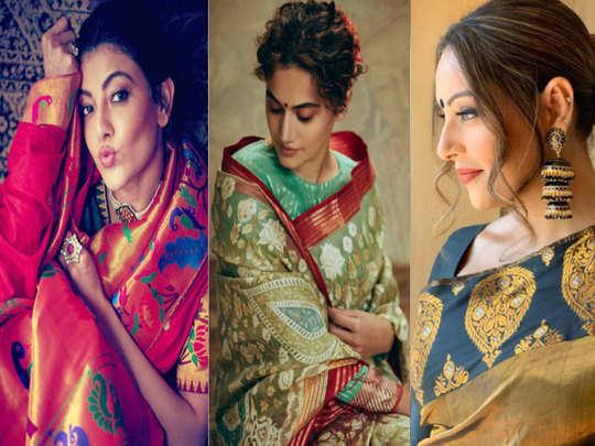 bipasha basu malaika arora taapsee pannu to deepika singh and kajal aggarwal actress flaunt their desi makeup