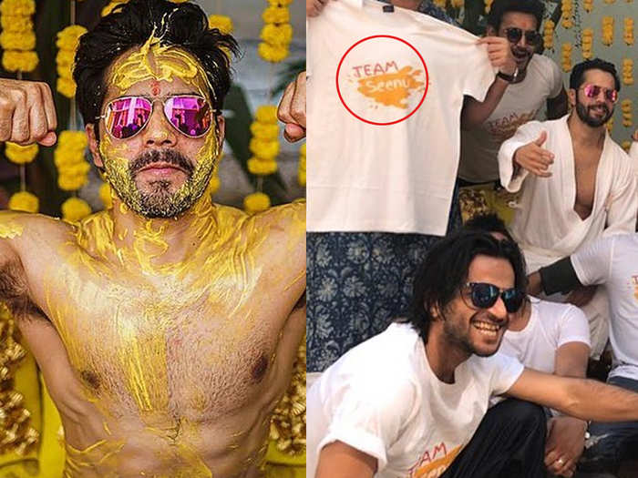 Varun Dhawan shared the very first pictures of haldi ceremony