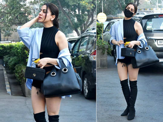 shraddha arya looks stunning in black top and shorts pics setting internet on fire