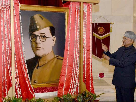 President of India Kovind Netaji Photo