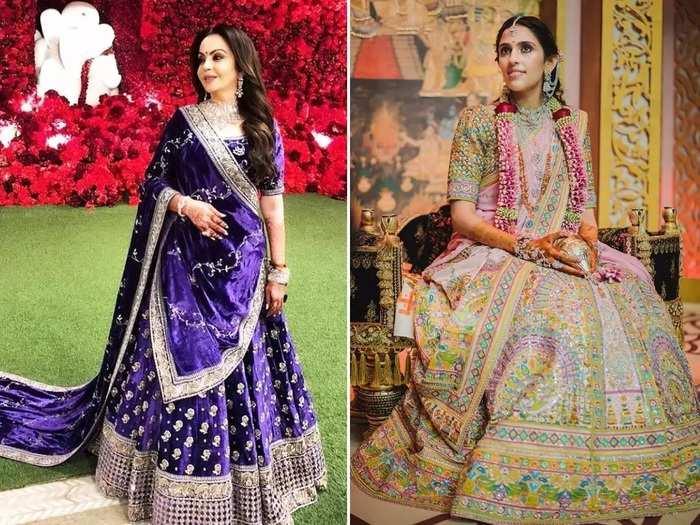 from nita ambani to deepika padukone celebrities designer personalized lehenga in marathi