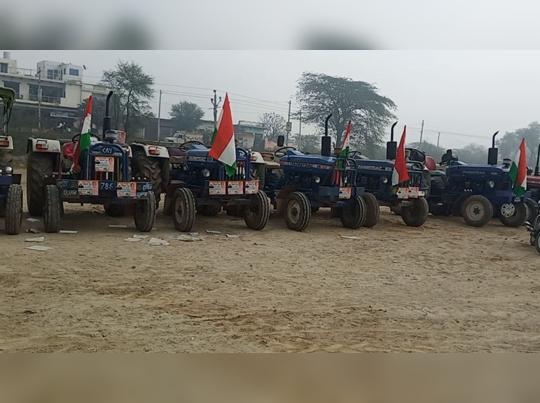 kisan tractor Rally : दिल्ली में मचे उपद्रव के बीच राजस्थान से बड़ी संख्या में रैली के लिए किसान रवाना