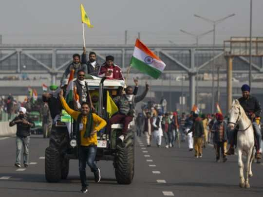 किसानों की ट्रैक्टर रैली